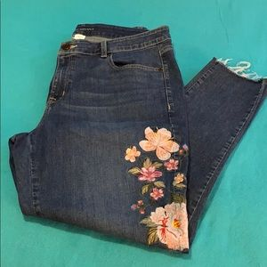 Lane Bryant Embroidered Skinny Jeans